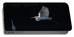 Great Egret In Morning Flight Portable Battery Charger