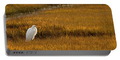 Great Egret In Morning Light Portable Battery Charger