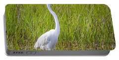 Portable Battery Charger featuring the photograph Great Egret In The Spring  by Ricky L Jones