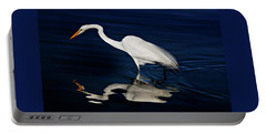 Great Egret-self Reflections Portable Battery Charger