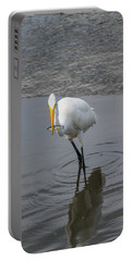 Great Egret Strike Portable Battery Charger