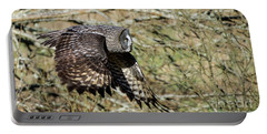 Great Grey Flying Portable Battery Charger by Torbjorn Swenelius