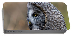 Great Grey's Profile A Closeup Portable Battery Charger by Torbjorn Swenelius
