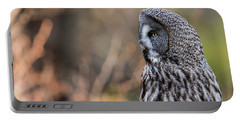 Great Grey's Profile Portable Battery Charger by Torbjorn Swenelius