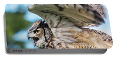 Great Horned Owl-2486 Portable Battery Charger