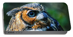 Great Horned Owl - Bubo Virginianus Portable Battery Charger
