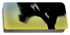 Great Horned Owl In A Joshua Tree Silhouette At Sunrise Portable Battery Charger