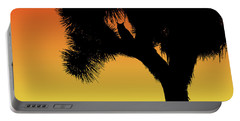 Great Horned Owl In A Joshua Tree Silhouette At Sunset Portable Battery Charger