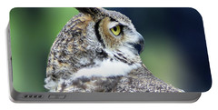 Great Horned Owl Profile Portable Battery Charger