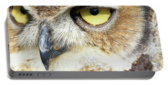 Great Horned Owl Up Close Portable Battery Charger