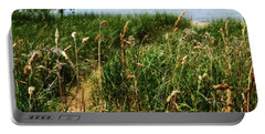 Portable Battery Charger featuring the photograph Great Lake Beach Path by Michelle Calkins