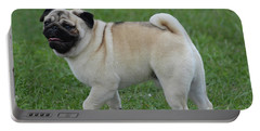 Great Looking Pug Dog On A Leash Portable Battery Charger by DejaVu Designs