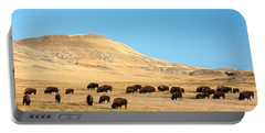Great Plains Buffalo Portable Battery Charger by Todd Klassy