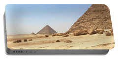 Portable Battery Charger featuring the photograph Great Pyramids Of Gizah by Silvia Bruno