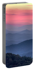 Great Smoky Mountain Sunset Portable Battery Charger by Teri Virbickis