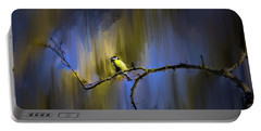 Great Tit On Branch #h3 Portable Battery Charger