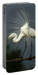 Majestic Great White Egret High Island Texas Portable Battery Charger