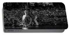 Portable Battery Charger featuring the photograph Great White Heron by Ray Congrove