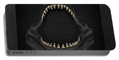Great White Shark Jaws With Gold Teeth  Portable Battery Charger