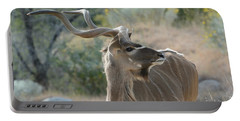 Portable Battery Charger featuring the photograph Greater Kudu 4 by Fraida Gutovich