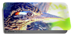 Greater Roadrunner Portrait 2 Portable Battery Charger