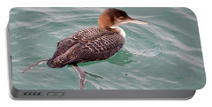 Portable Battery Charger featuring the photograph Grebe In The Water by AJ Schibig