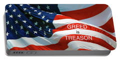 Portable Battery Charger featuring the photograph Greed Is Treason by Paul W Faust - Impressions of Light
