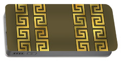 Greek Gold Pattern - Chuck Staley Portable Battery Charger by Chuck Staley