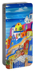 Greek Islands Fantasy Village Santorini Portable Battery Charger