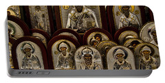 Greek Orthodox Church Icons Portable Battery Charger by David Smith