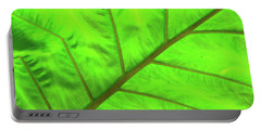Green Abstract No. 5 Portable Battery Charger