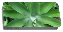 Green Agave Leaves Portable Battery Charger