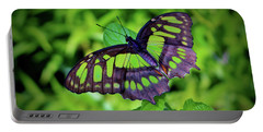 Green And Black Butterfly Portable Battery Charger