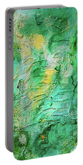 Green And Gold Abstract Portable Battery Charger