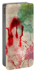 Green And Red Color Splash Portable Battery Charger