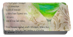 Green Angel Mixed Cocktail Recipe Sign Portable Battery Charger
