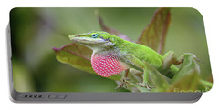 Green Anole Portable Battery Charger