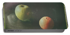 Green Apple And Tangerine Portable Battery Charger
