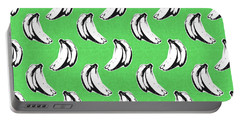 Green Bananas- Art By Linda Woods Portable Battery Charger