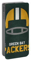 Green Bay Packers Vintage Art Portable Battery Charger