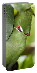 Green Turaco Bird Portrait Portable Battery Charger