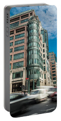 Green Building On Liverpool Metro Station London Portable Battery Charger