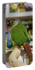 Green Cheek Conure Portable Battery Charger