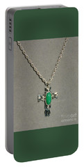 Portable Battery Charger featuring the photograph Green Cross by Marie Neder