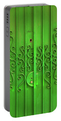 Portable Battery Charger featuring the photograph Green Door by Carlos Caetano