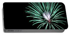 Portable Battery Charger featuring the photograph Green Explosion by Suzanne Luft
