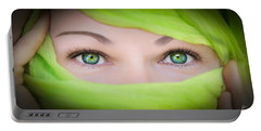 Green-eyed Girl Portable Battery Charger