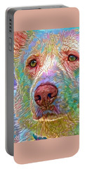 Green Eyes Portable Battery Charger by Geri Glavis