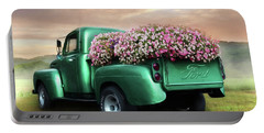 Green Flower Truck Portable Battery Charger