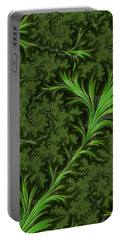 Green Fronds Portable Battery Charger by Rajiv Chopra
